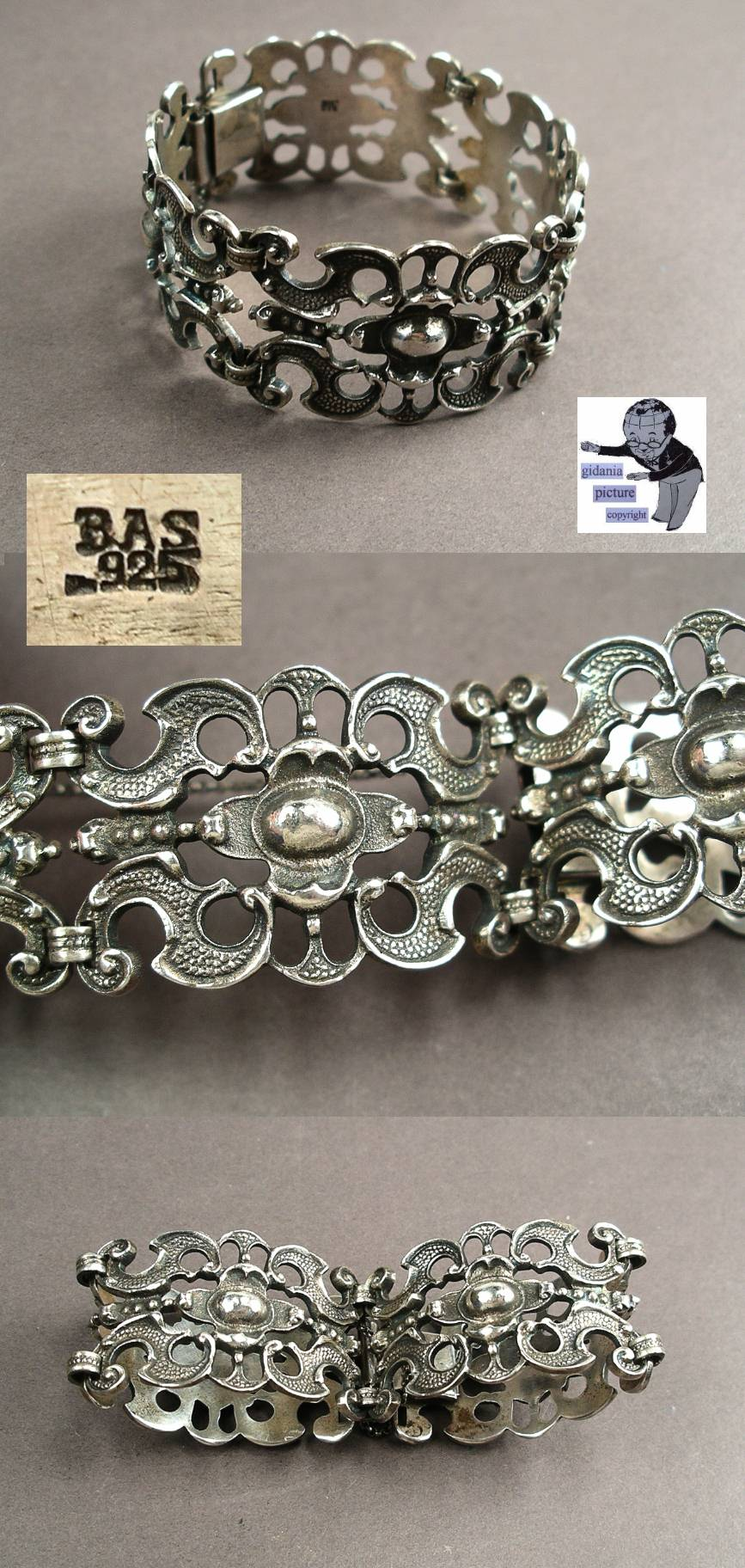 Bijoux Vintage Online : Blachian antique bijoux bas sterling argent