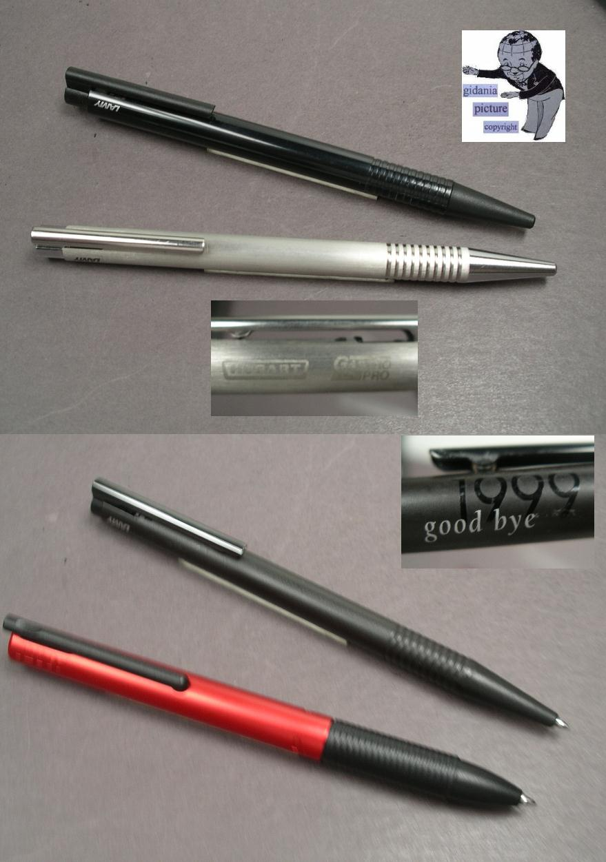 Lamy Design ballpoint 1980ties in metal with advertise #