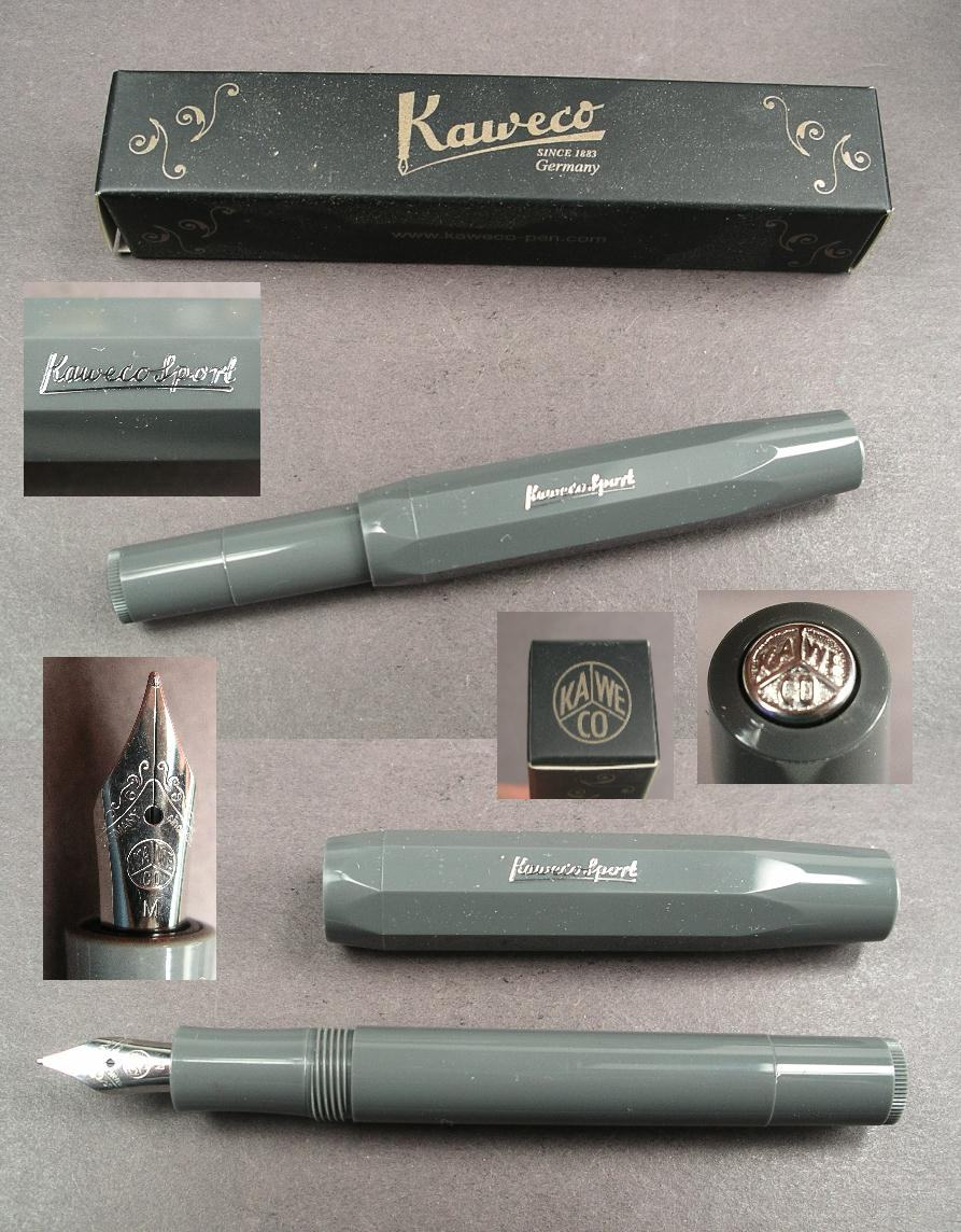 Grey Fine Point Kaweco Skyline Sport Fountain Pen New In Box 10000758