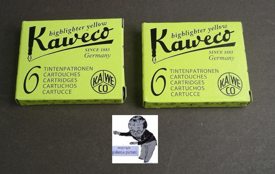 Kaweco Cartridges 2 Packages Ink Highlighter Neon Yellow #