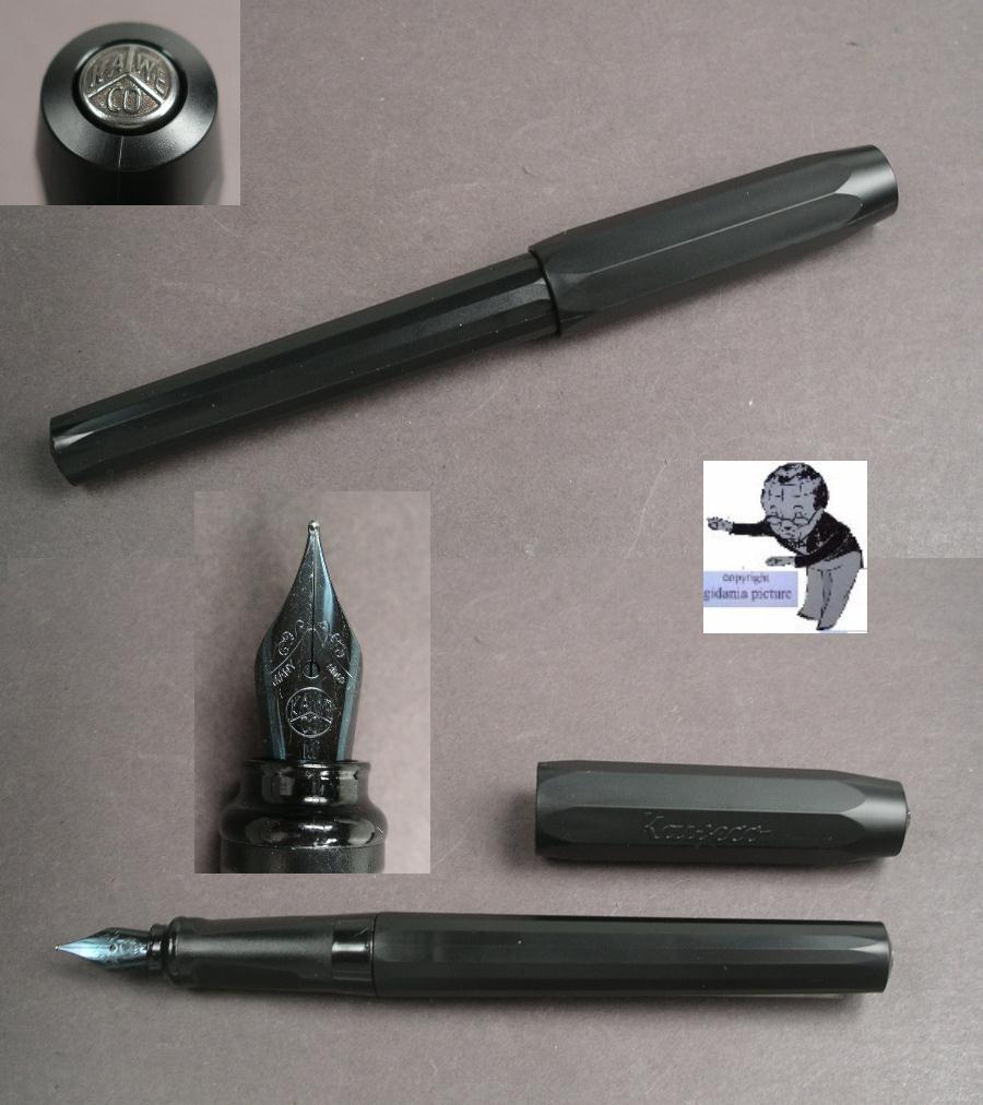 black Fine F Kaweco Perkeo Fountain Pen All Black