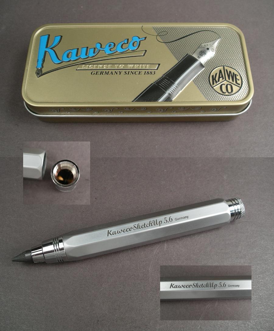 Kaweco Sketch Up Brass Satin Chrome Pencil